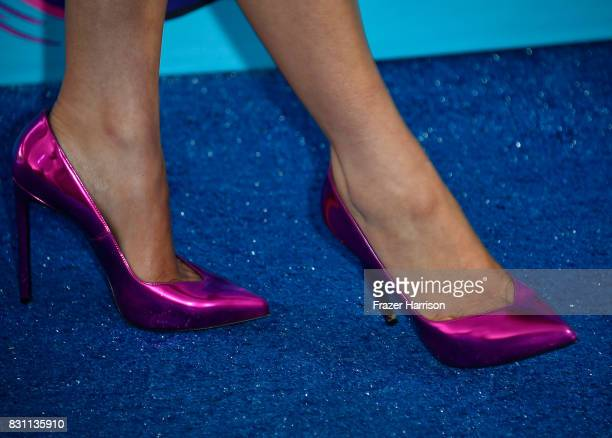 Niki DeMartino shoe detail attends the Teen Choice Awards 2017 at Galen Center on August 13 2017 in Los Angeles California