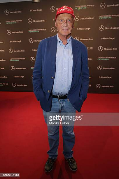 Niki Lauda attends the MercedesBenz SKlasse Coupe presentation at Metastadt on June 12 2014 in Vienna Austria