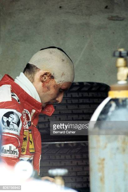 Niki Lauda Grand Prix of Italy Monza 12 September 1976 Five and a half weeks after his terrible accident Niki Lauda was back in action