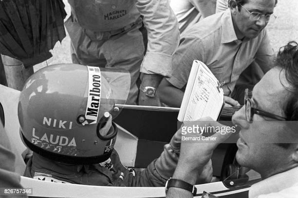 Niki Lauda Mauro Forghieri Grand Prix of Italy Monza 07 September 1975