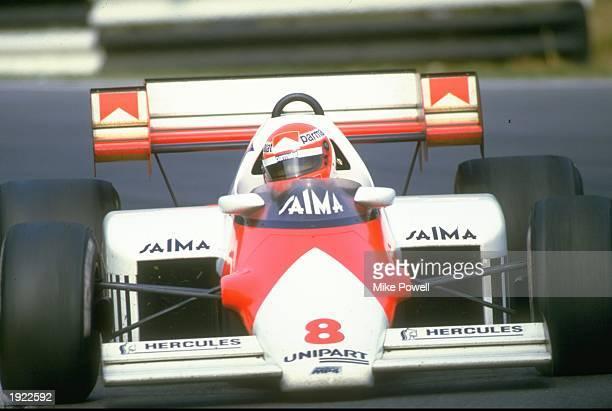 Niki Lauda of Austria in action in his Marlboro McLaren during a Formula One race Mandatory Credit Mike Powell/Allsport