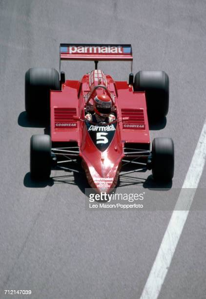 Niki Lauda of Austria in the lead driving a Brabham BT48 with an Alfa Romero 1260 30 V12 for the Parmalat Racing Team during the Monaco Grand Prix at...