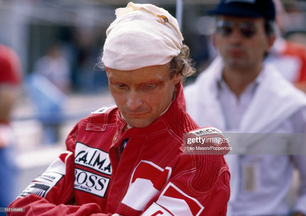 Niki Lauda of Austria pictured after winning the British Grand Prix at Brands Hatch in England, driving a McLaren MP4/2 with a TAG TTE PO1 1.5 V6t engine for Team Marlboro McLaren International, on 22nd July 1984.