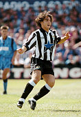 Niki Papavasiliou of Newcastle United in action during a Pre Season Friendly against Hartlepool at Victoria Park on July 24 1993 in Hartlepool...