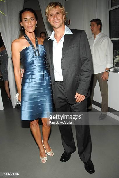 Niki Roderick and Martin Stepanek attend LA MER and OCEANA Party for WORLD OCEAN DAY 2008 at 620 Loft Garden on June 4 2008 in New York City