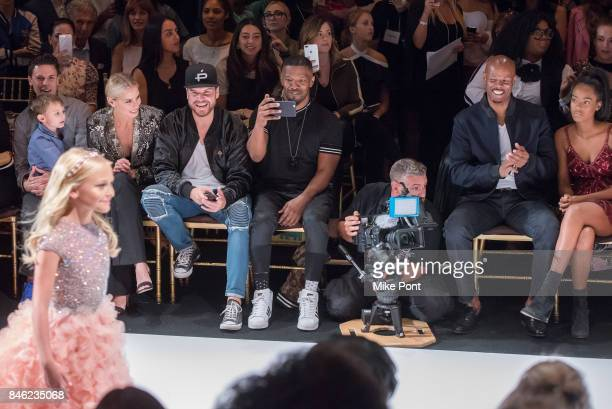 Niki Taylor Jamie Foxx and Keenan Ivory Wayans attend the Sherri Hill fashion show at Gotham Hall on September 12 2017 in New York City
