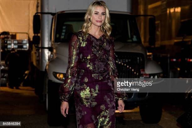 Niki Taylor seen in the streets of Manhattan outside Anna Sui during New York Fashion Week on September 11 2017 in New York City