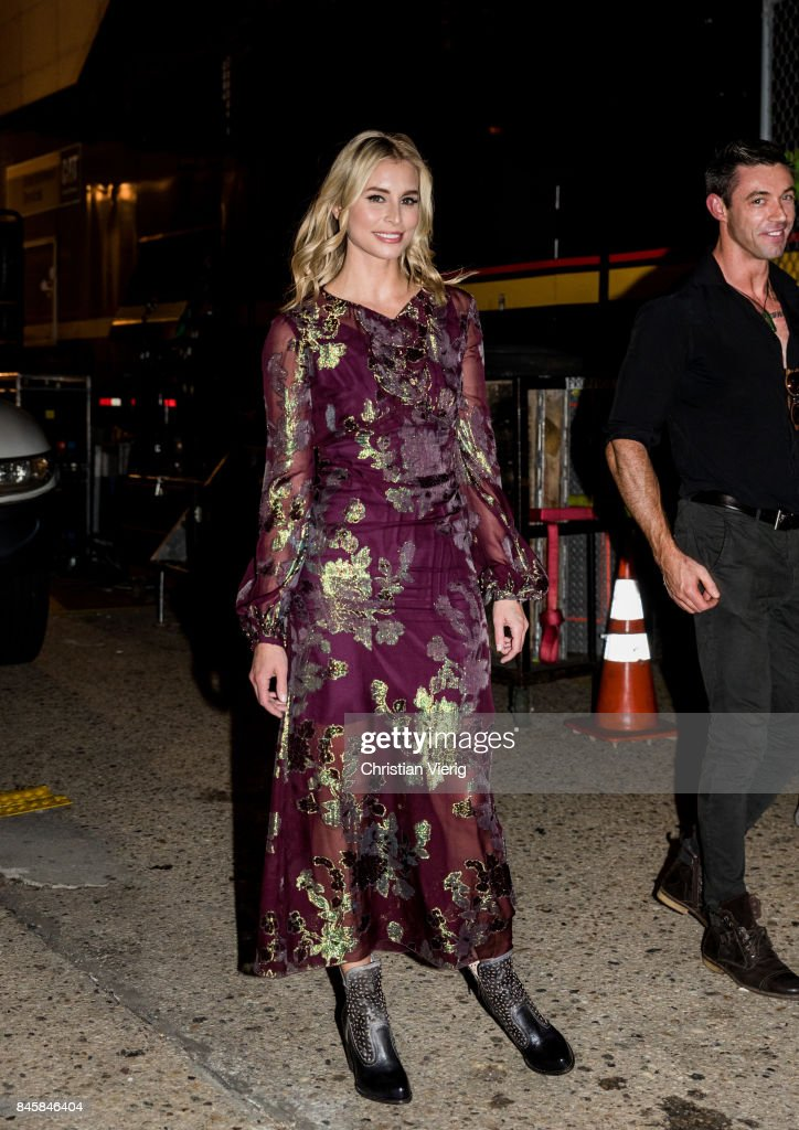 Niki Taylor seen in the streets of Manhattan outside Anna Sui during New York Fashion Week on September 11, 2017 in New York City.