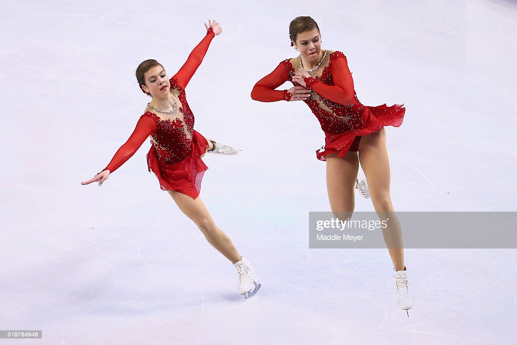 Niki Wories of the Netherlands skates in the Ladies Free Skate on Day 6 of the ISU World Figure Skating Championships 2016 at TD Garden on April 2...