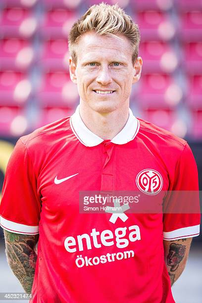 Niki Ziemling poses during the 1 FSV Mainz Team Presentation at Coface Arena on July 18 2014 in Mainz Germany