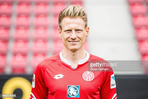 Niki Zimling poses during the 1 FSV Mainz 05 Team Presentation at Coface Arena on July 12 2015 in Mainz Germany