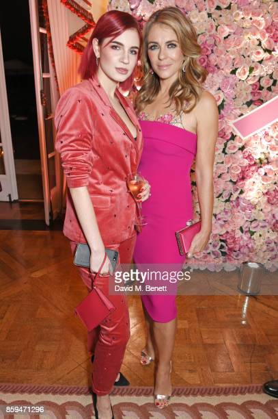 Nikita Andrianova and Elizabeth Hurley attend the 25th Anniversary of the Estee Lauder Companies UK's Breast Cancer Campaign at the US Ambassadors...