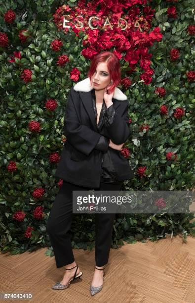 Nikita Andrianova attends New Flagship Store Opening of Luxury Fashion Brand ESCADA on Sloane Street on November 15 2017 in London England