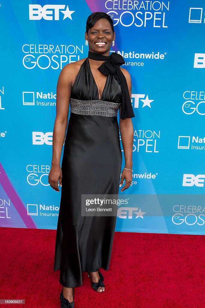 Nikita B. arrives at the BET Network's 13th Annual 'Celebration of Gospel' at Orpheum Theatre on March 16, 2013 in Los Angeles, California.
