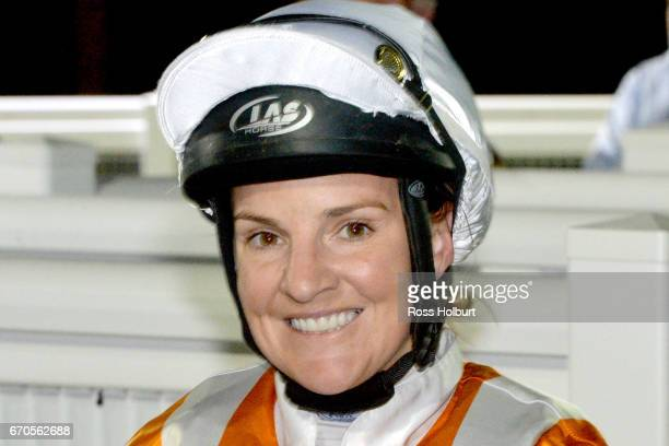Nikita Beriman after winning the XXXX Gold Maiden Plate at Racingcom Park Synthetic Racecourse on April 20 2017 in Pakenham Australia