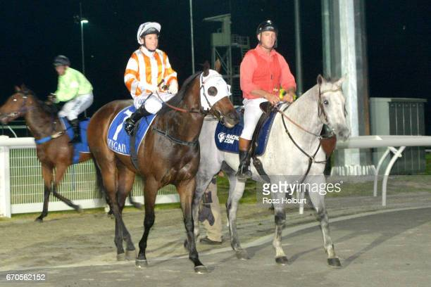 Nikita Beriman returns to the mounting yard on Zamboanga after winning the XXXX Gold Maiden Plate at Racingcom Park Synthetic Racecourse on April 20...