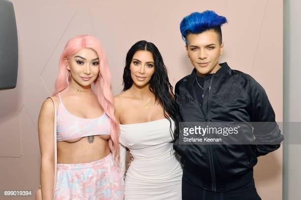 Nikita Dragun Kim Kardashian West and Gabriel Zamora celebrate The Launch Of KKW Beauty on June 20 2017 in Los Angeles California