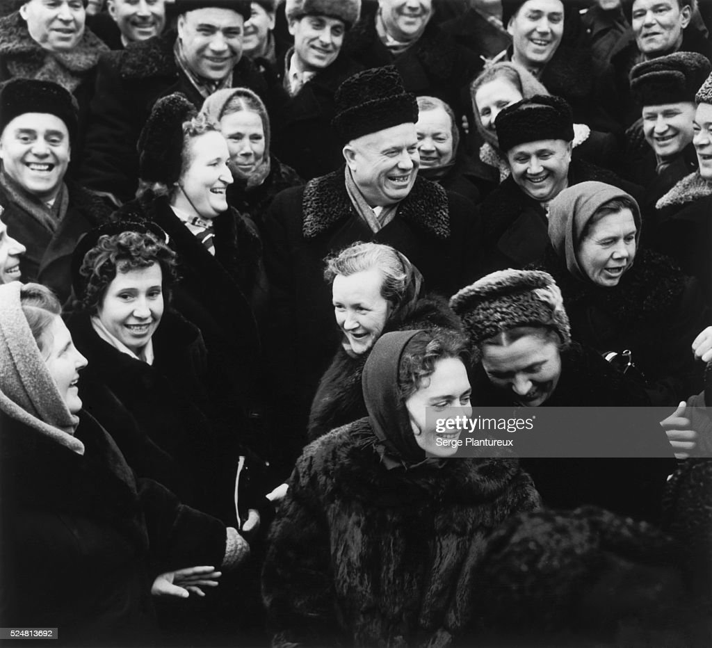 <a gi-track='captionPersonalityLinkClicked' href=/galleries/search?phrase=Nikita+Khrushchev&family=editorial&specificpeople=92216 ng-click='$event.stopPropagation()'>Nikita Khrushchev</a> among a crowd of Soviet people.