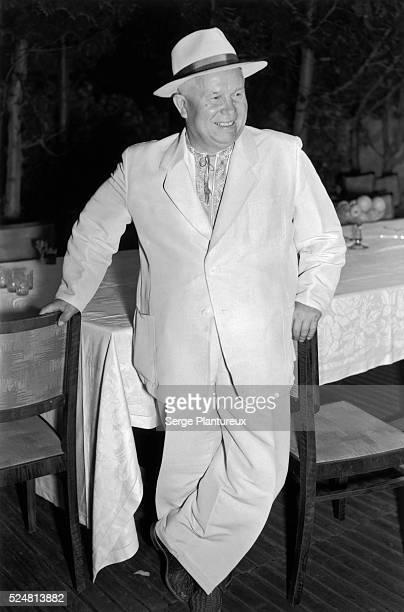 Nikita Khrushchev at his dacha