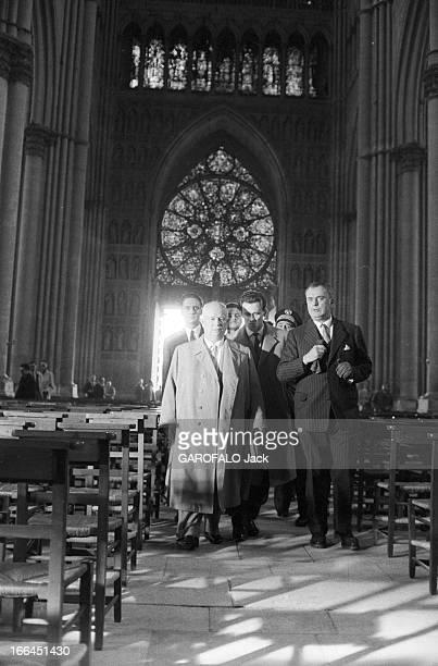 Nikita Khrushchev In Official Visit To Reims France Reims 30 mars 1960 Nikita Sergueïevitch KHROUCHTCHEV Premier secrétaire du Comité central du...