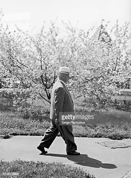 Nikita Khrushchev Taking a Walk