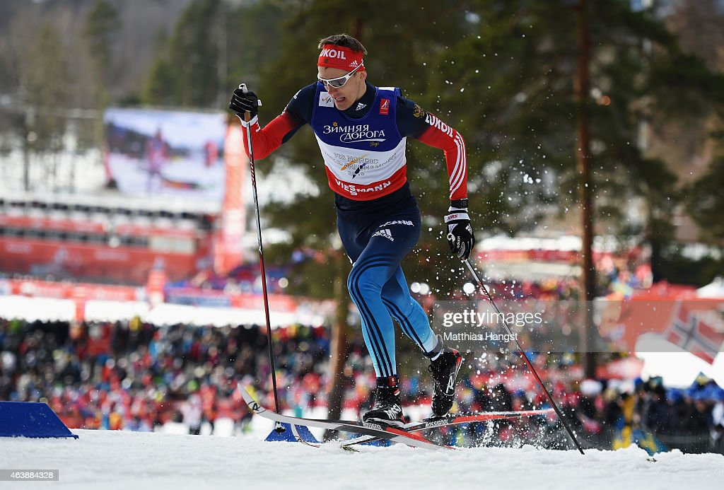 <a gi-track='captionPersonalityLinkClicked' href=/galleries/search?phrase=Nikita+Kriukov&family=editorial&specificpeople=4907513 ng-click='$event.stopPropagation()'>Nikita Kriukov</a> of Russia competes during the Men's Cross-Country Sprint Qualification during the FIS Nordic World Ski Championships at the Lugnet venue on February 19, 2015 in Falun, Sweden.