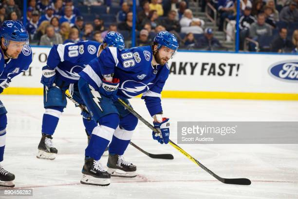 Nikita Kucherov of the Tampa Bay Lightning skates against the Winnipeg Jets during the second period at Amalie Arena on December 9 2017 in Tampa...