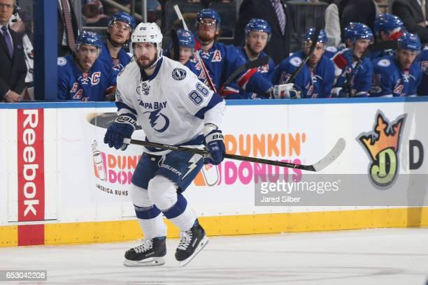 Nikita Kucherov of the Tampa Bay Lightning skates against the New York Rangers at Madison Square Garden on March 13 2017 in New York City