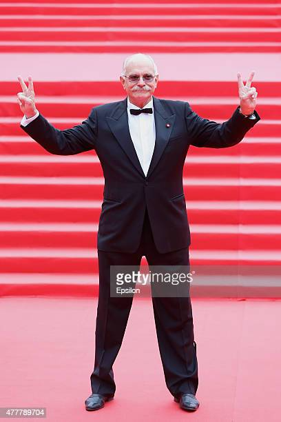 Nikita Mikhalkov attends the opening ceremony of the Moscow International Film Festival at Pushkinsky Cinema on June 19 2015 in Moscow Russia