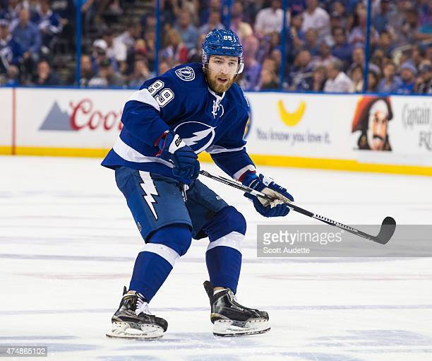 Nikita Nesterov of the Tampa Bay Lightning against the New York Rangers during the third period in Game Three of the Eastern Conference Final during...