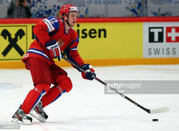 Nikita Nikitin of Russia skates against Germany during the IIHF World Championship group S match between Russia and Germany at Ericsson Globe on May...