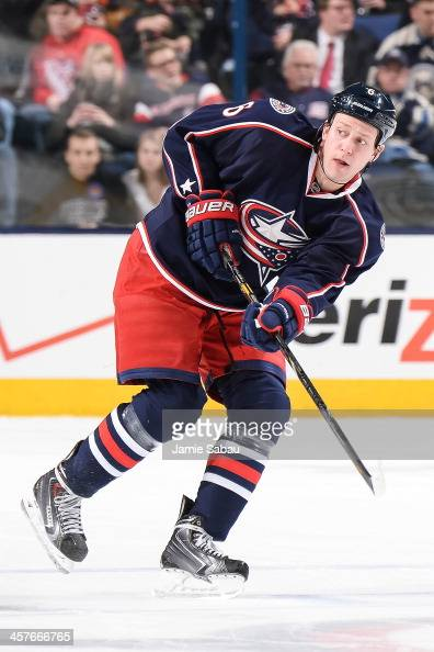 Nikita Nikitin of the Columbus Blue Jackets skates against the New Jersey Devils on December 10 2013 at Nationwide Arena in Columbus Ohio
