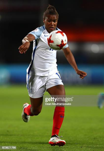 Nikita Parris of England in action during the UEFA Women's Euro 2017 Group D match between Portugal and England at Koning Willem II Stadium on July...