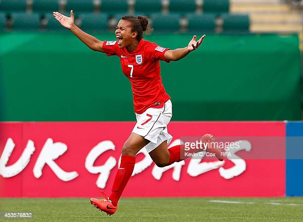 Nikita Parris of England reacts after scoring a goal against Nigeria during the FIFA U20 Women's World Cup Canada 2014 Group C match between Nigeria...