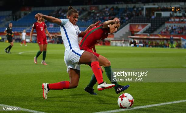 Nikita Parris of England Women and Dolores Silva of Portugal Women during the UEFA Women's Euro 2017 match between Portugal and England at Koning...