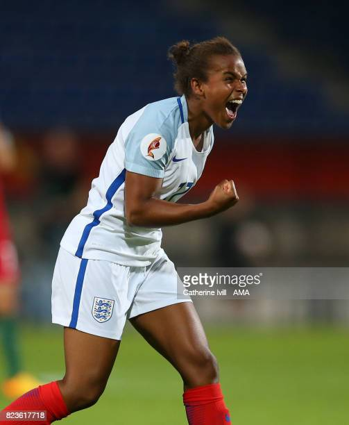 Nikita Parris of England Women celebrates after she scores a goal to make it 21 during the UEFA Women's Euro 2017 match between Portugal and England...