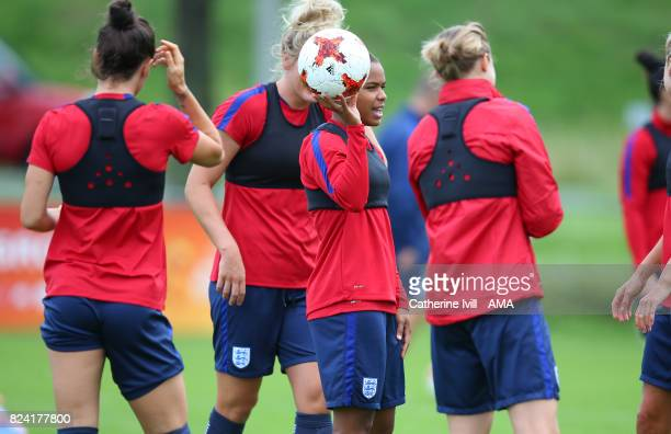 Nikita Parris of England Women during the England Women's Training Session on July 29 2017 in Utrecht Netherlands