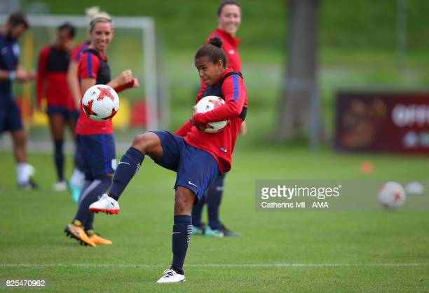 Nikita Parris of England Women in action during the England Training Session on August 2 2017 in Utrecht Netherlands