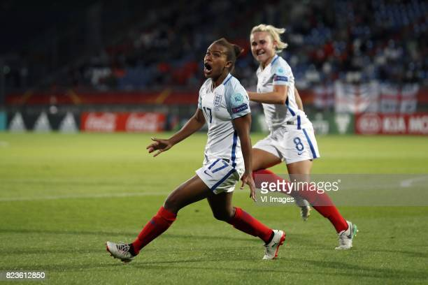 Nikita Parris of England women Isobel Christiansen of England women during the UEFA WEURO 2017 Group D group stage match between Portugal and England...