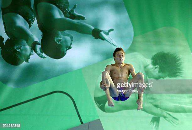 Nikita Shleikher of Russia competes in the Men's 3m Semifinals during Day Two of the FINA/NVC Diving World Series 2016 at the Windsor International...