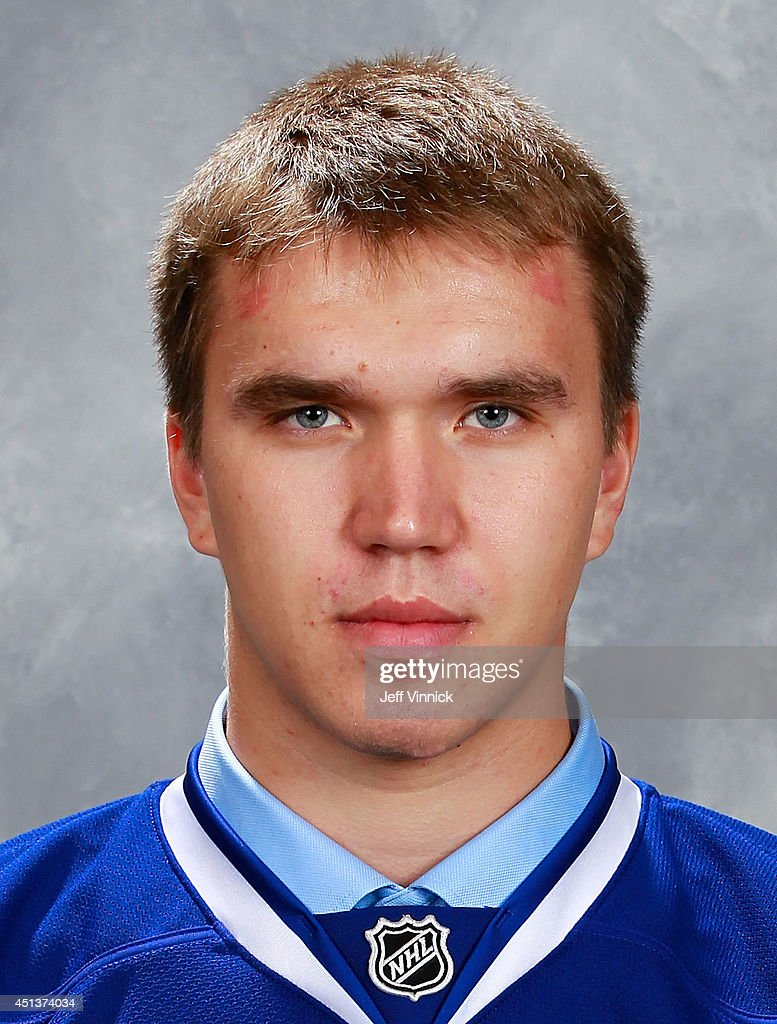 Nikita Tryamkin, 66th overall pick of the Vancouver Canucks, poses for a portrait during the 2014 NHL Entry Draft at Wells Fargo Center on June 28, 2014 in Philadelphia, Pennsylvania.