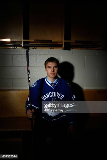 Nikita Tryamkin of the Vancouver Canucks poses for a portrait during the 2014 NHL Draft at the Wells Fargo Center on June 28 2014 in Philadelphia...