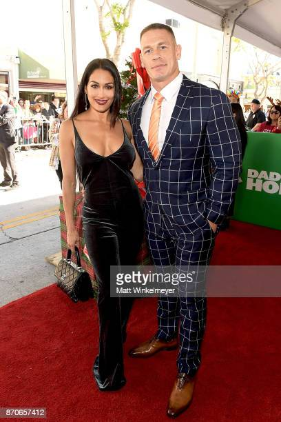 Nikki Bella and John Cena attend the premiere of Paramount Pictures' 'Daddy's Home 2' at Regency Village Theatre on November 5 2017 in Westwood...