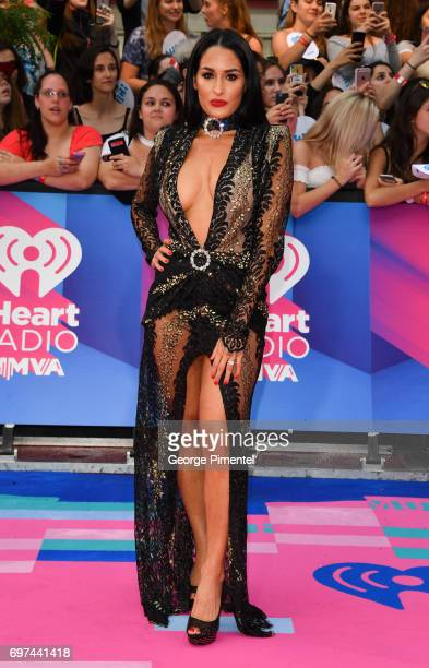 Nikki Bella arrives at the 2017 iHeartRADIO MuchMusic Video Awards at MuchMusic HQ on June 18 2017 in Toronto Canada