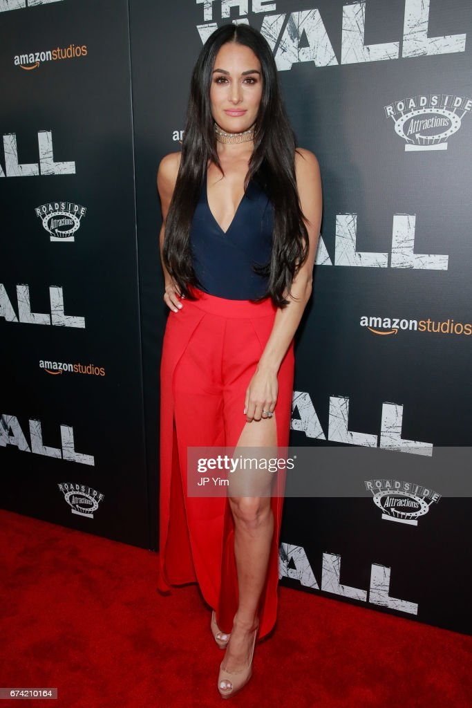 Nikki Bella attends the premiere of 'The Wall' at Regal Union Square Theatre, Stadium 14 on April 27, 2017 in New York City.