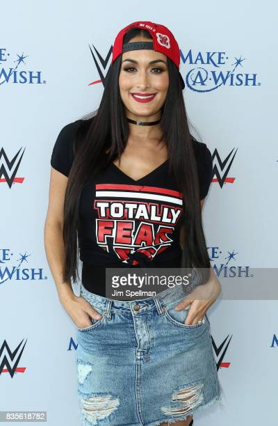 Nikki Bella attends the WWE Superstars Surprise MakeAWish Families at One World Observatory on August 19 2017 in New York City