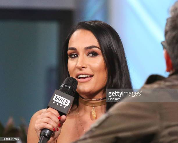 Nikki Bella discusses 'Total Divas' during the Build Series at Build Studio on April 5 2017 in New York City