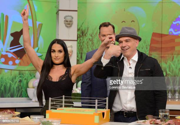 THE CHEW Nikki Bella is the guest Friday April 7 2017 on ABC's 'The Chew' 'The Chew' airs MONDAY FRIDAY on the ABC Television Network SYMON
