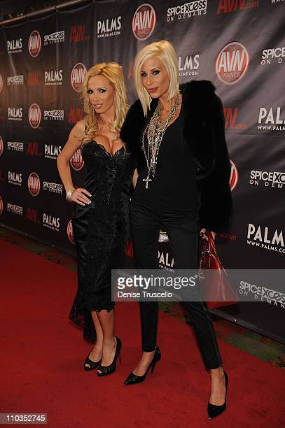 Nikki Benz and Puma Swede arrives at the 2010 AVN Awards at the Pearl at The Palms Casino Resort on January 9 2010 in Las Vegas Nevada