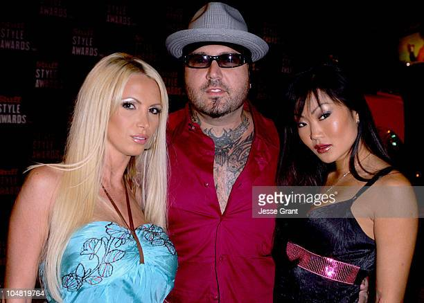 Nikki Benz Evan Seinfeld and Lucy Lee during 2005 Stuff Style Awards Mercury on the Red Carpet at Hollywood Roosevelt Hotel in Los Angeles California...